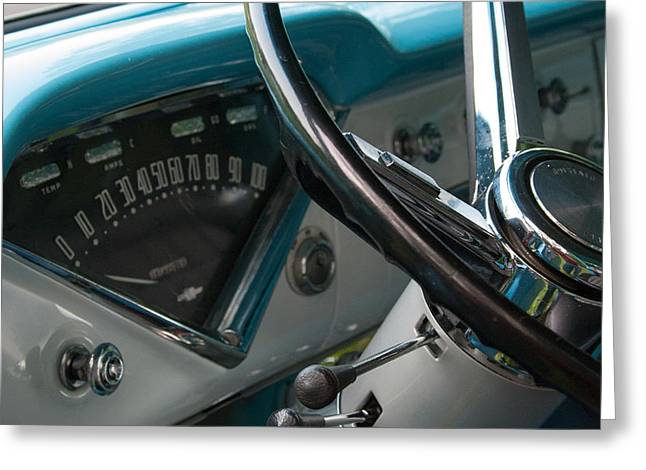 56 Chevy Pickup Greeting Cards - 1956 Chevy 3100 Greeting Card by Mark Maloney