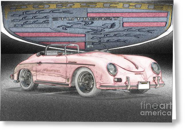 Rally Greeting Cards - 1956 Porsche Speedster Greeting Card by Dave Koontz