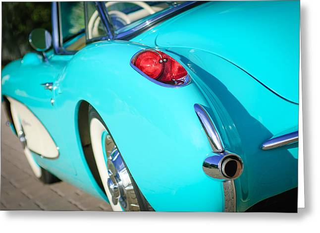 1957 Corvette Greeting Cards - 1957 Chevrolet Corvette Taillight Greeting Card by Jill Reger
