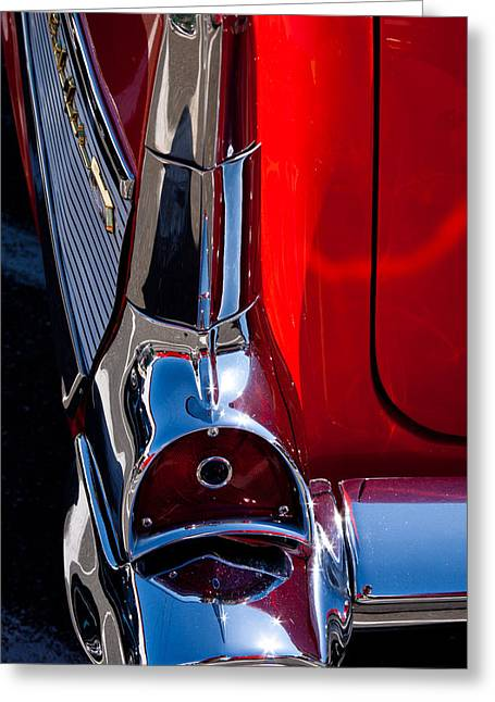 Vintage Models Greeting Cards - 1957 Chevy Bel Air Custom Hot Rod Greeting Card by David Patterson