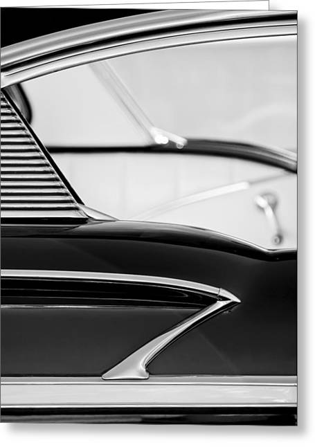 Belair Greeting Cards - 1958 Chevrolet Belair Abstract Greeting Card by Jill Reger
