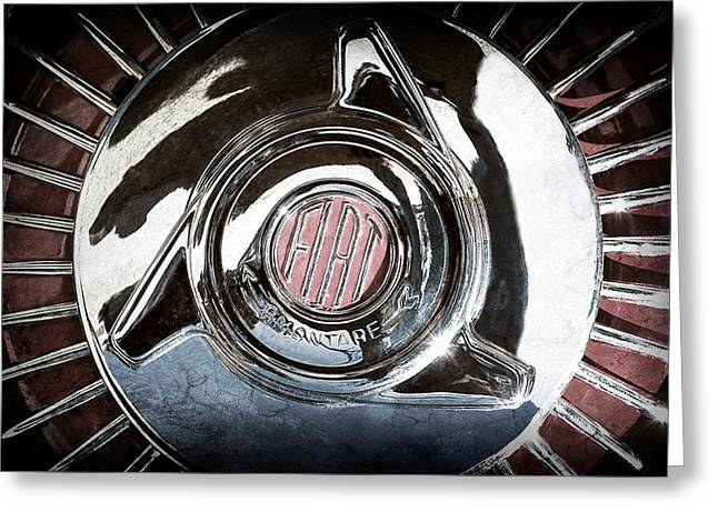 Old Tv Photographs Greeting Cards - 1958 Fiat 1200 TV Sportsman Roadster Wheel Greeting Card by Jill Reger