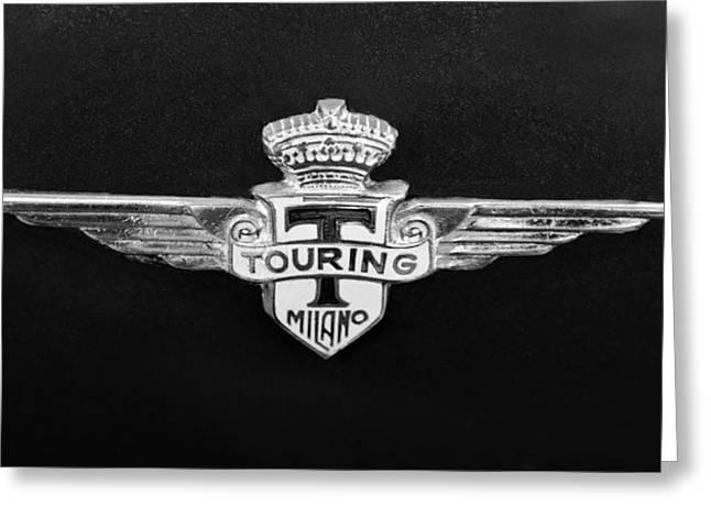 Milano Greeting Cards - 1962 Maserati 3500 GT Emblem Greeting Card by Jill Reger