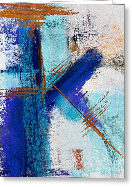 Contemporary Abstract Pastels Greeting Cards - Icy Stares #4 Greeting Card by Tracy L Teeter