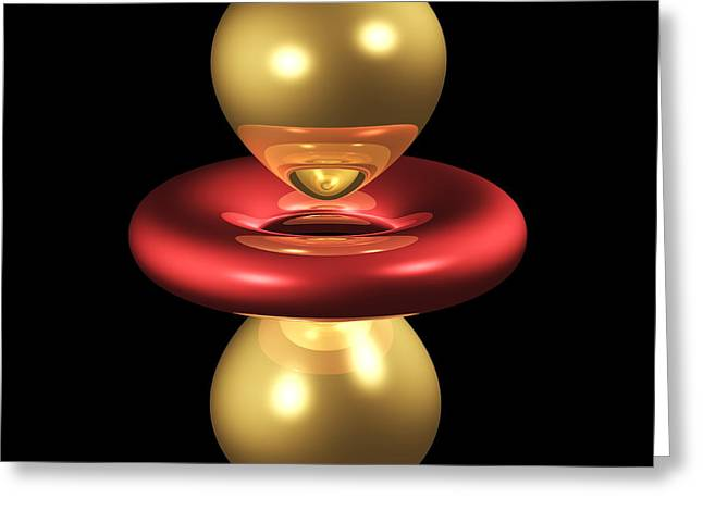 3dzz Greeting Cards - 3dz2 Electron Orbital Greeting Card by Dr. Mark J. Winter