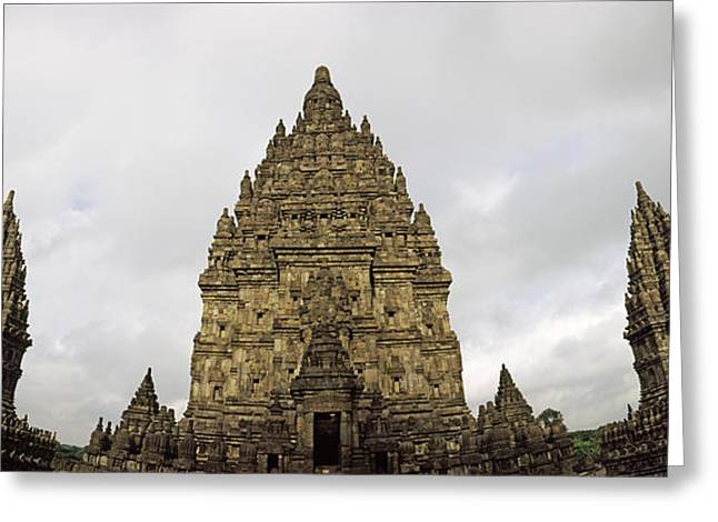 9th Century Hindu Temple Prambanan Greeting Card by Panoramic Images