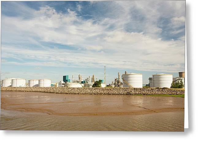 A Bp Chemical Plant At Salt End Greeting Card by Ashley Cooper