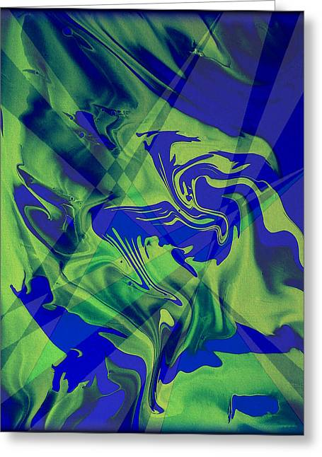 Original Greeting Cards - Abstract 32 Greeting Card by J D Owen