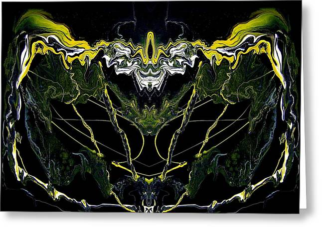Great Mysteries Paintings Greeting Cards - Abstract 42 Greeting Card by J D Owen