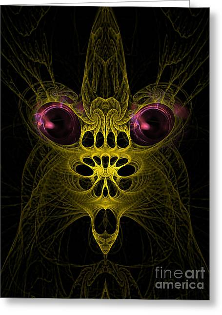 Ghastly Greeting Cards - Abstract artistic scary creature Greeting Card by Indian Summer