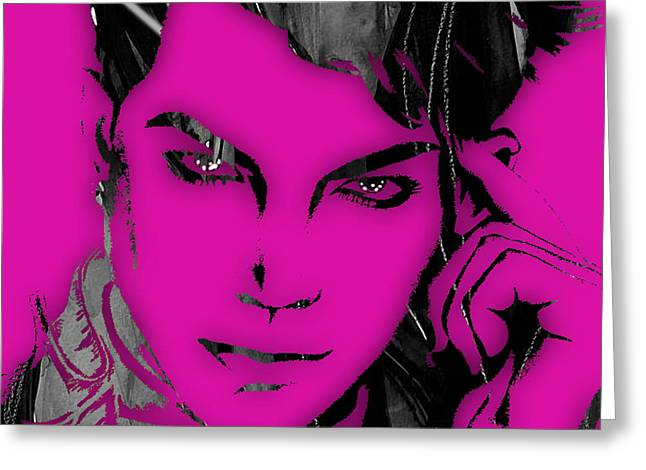 Adam Lambert Greeting Cards - Adam Lambert Collection Greeting Card by Marvin Blaine