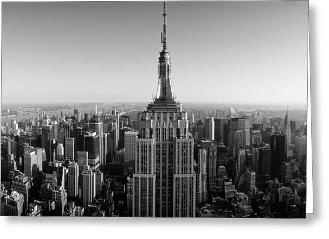 International Photography Greeting Cards - Aerial View Of A Cityscape, Empire Greeting Card by Panoramic Images