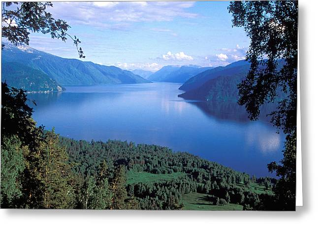 Fresh Air Greeting Cards - Altay Lakes Teletskoe Greeting Card by Anonymous