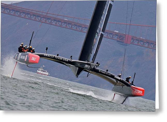 Oracle Greeting Cards - Americas Cup Oracle Greeting Card by Steven Lapkin