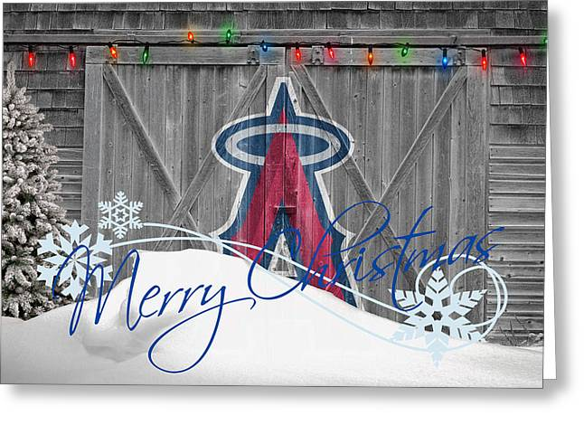 Baseball Field Greeting Cards - Anaheim Angels Greeting Card by Joe Hamilton