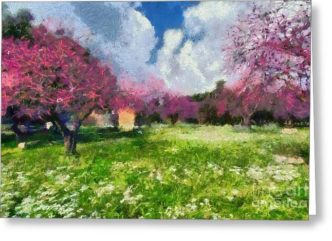 Greece Greeting Cards - Ancient Olympia during springtime Greeting Card by George Atsametakis