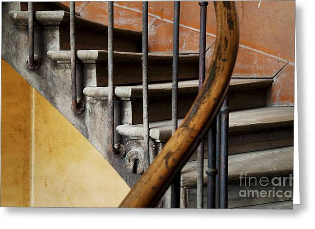 Wooden Stairs Greeting Cards - Ancient Staircase Greeting Card by Brian Jannsen