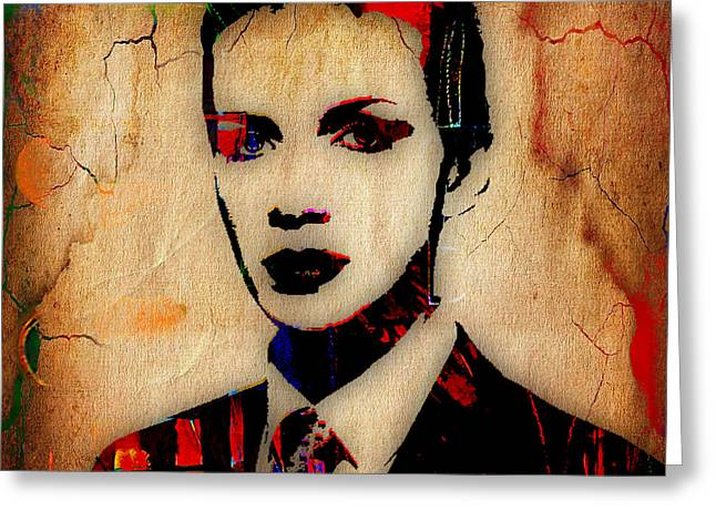 Annie Lennox Greeting Cards - Annie Lennox Collection Greeting Card by Marvin Blaine