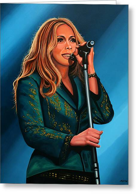Anouk Painting Greeting Card by Paul Meijering