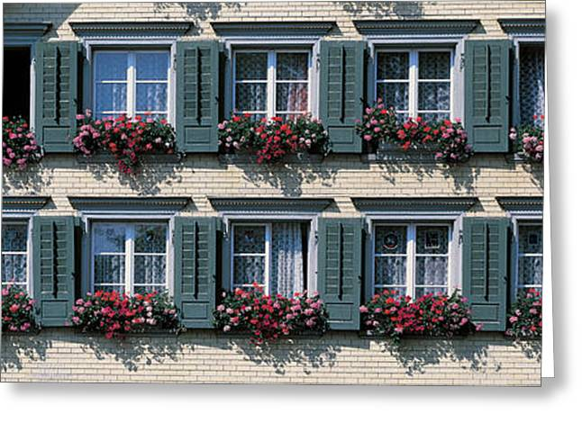 Lace Curtains Greeting Cards - Appenzell Switzerland Greeting Card by Panoramic Images