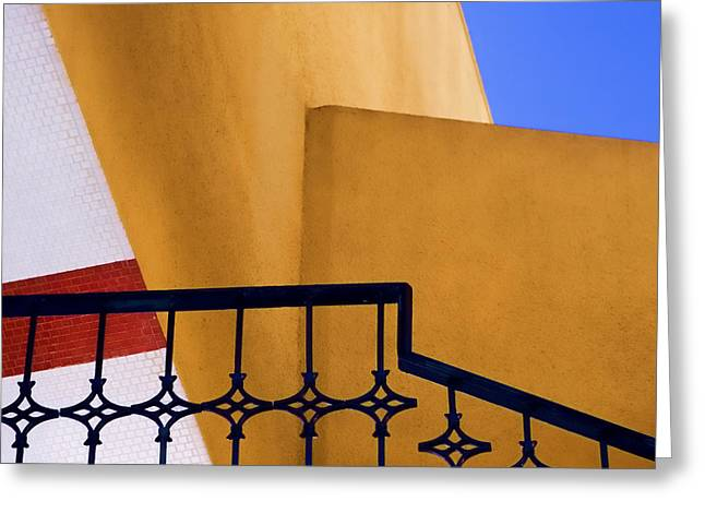 Diagonal Lines Greeting Cards - Architectural Detail Greeting Card by Carol Leigh
