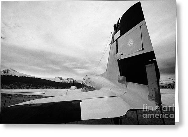 Dc-3 Plane Greeting Cards - argentine navy dc-3 cabo de hornos Ushuaia Argentina Greeting Card by Joe Fox