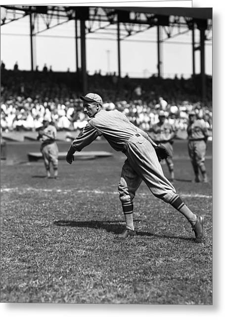Baseball Photographs Greeting Cards - Art Reinhart Greeting Card by Retro Images Archive