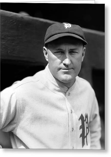 American Baseball Art Greeting Cards - Arthur Art Fletcher Greeting Card by Retro Images Archive