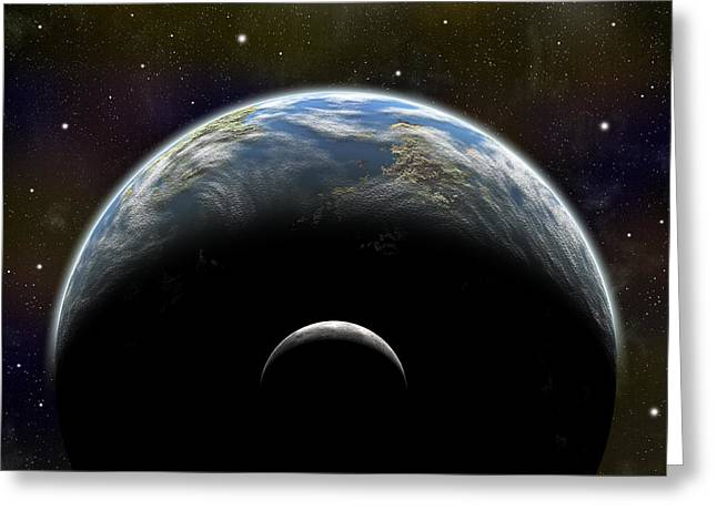 Art In Squares Greeting Cards - Artists Depiction Of An Earth-like Greeting Card by Marc Ward