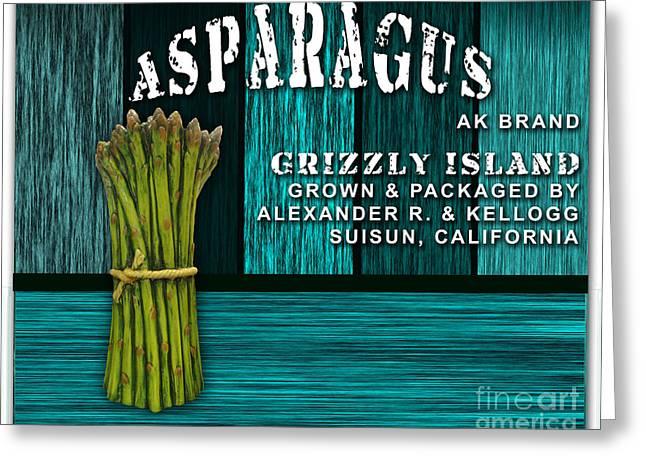 Asparagus Farm Greeting Card by Marvin Blaine