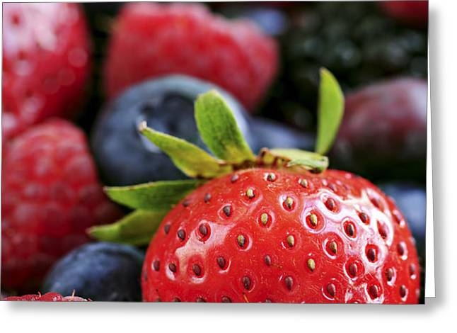 Assorted fresh berries Greeting Card by Elena Elisseeva