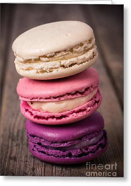 Stack Greeting Cards - Assorted macaroons vintage Greeting Card by Jane Rix