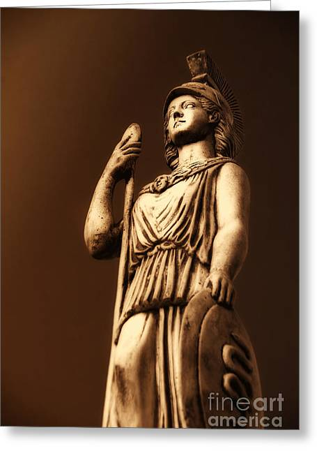 Neo Pyrography Greeting Cards - Athena Greeting Card by Altay Suleyman