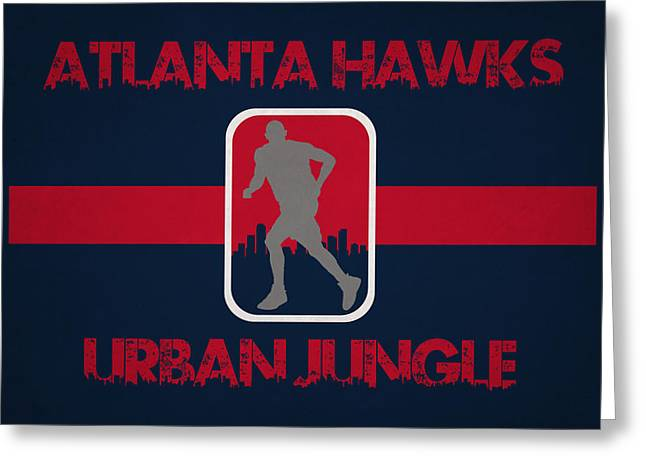 Urban Jungle Greeting Cards - Atlanta Hawks Greeting Card by Joe Hamilton
