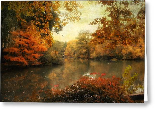 Autumn Landscape Digital Greeting Cards - Autumn Afternoon  Greeting Card by Jessica Jenney