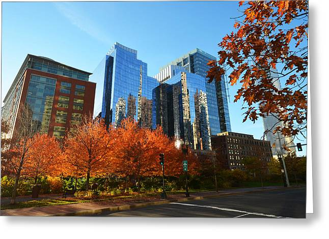 Autumn In Boston Greeting Card by Toby McGuire