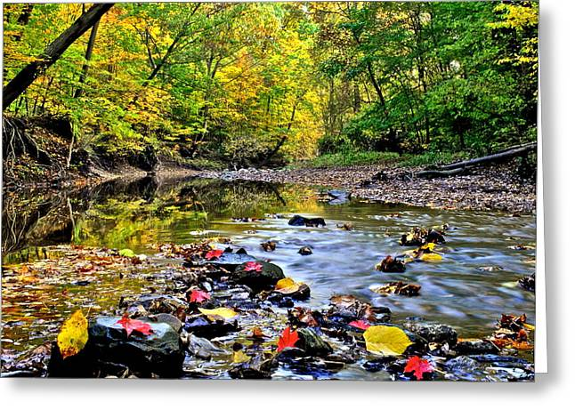 Babbling Greeting Cards - Babbling Brook Greeting Card by Frozen in Time Fine Art Photography