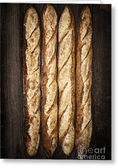 Organic Photographs Greeting Cards - Baguettes Greeting Card by Elena Elisseeva