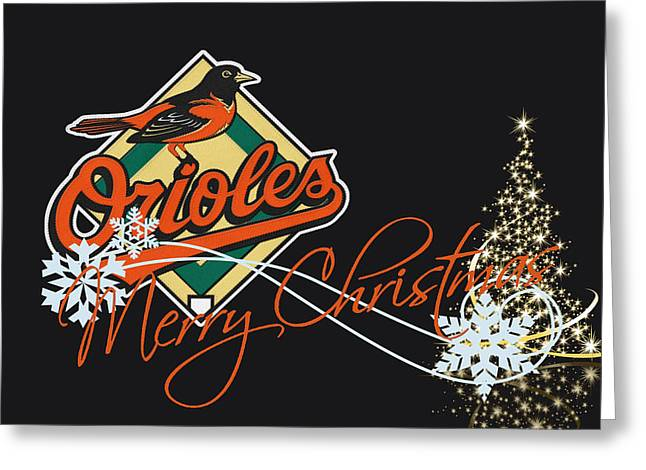 Christmas Greeting Photographs Greeting Cards - Baltimore Orioles Greeting Card by Joe Hamilton