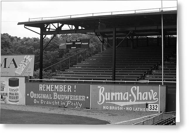Negro Leagues Greeting Cards - Baseball Field Burma Shave Sign Greeting Card by Frank Romeo