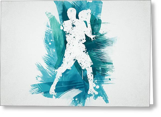 Ball Mixed Media Greeting Cards - Basketball Player Greeting Card by Aged Pixel