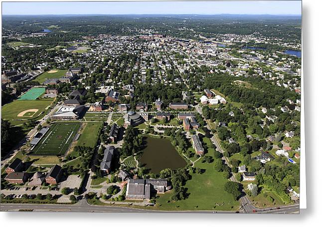 Self-knowledge Photographs Greeting Cards - Bates College, Lewiston Greeting Card by Dave Cleaveland
