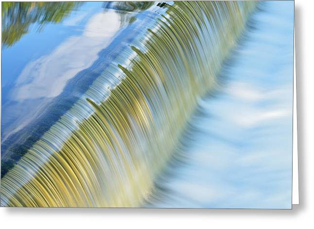 Beautiful Creek Greeting Cards - Battle Creek River Cascade Greeting Card by Dean Pennala