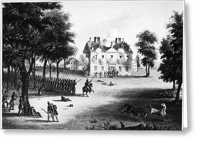 Carousel House Greeting Cards - Battle Of Germantown, 1777 Greeting Card by Granger