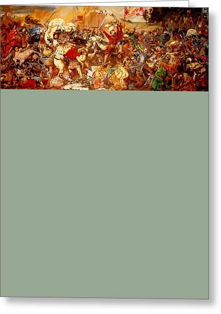 Henryk Greeting Cards - Battle of Grunwald Greeting Card by Henryk Gorecki