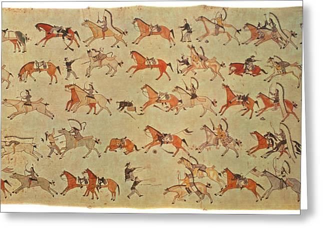 Battle Of Little Bighorn Greeting Card by Granger