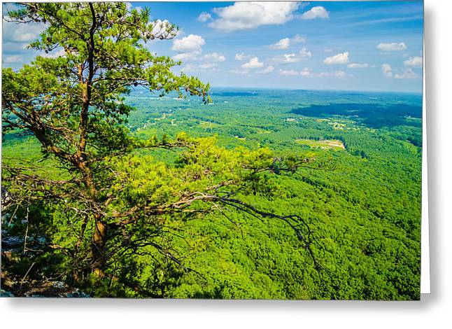 Beautiful Aerial Landscape Views From Crowders Mountain North Ca Greeting Card by Alex Grichenko