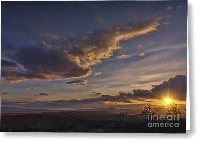 """""""bryce Canyon"""" Greeting Cards - Beautiful Sunset Greeting Card by Colin and Linda McKie"""