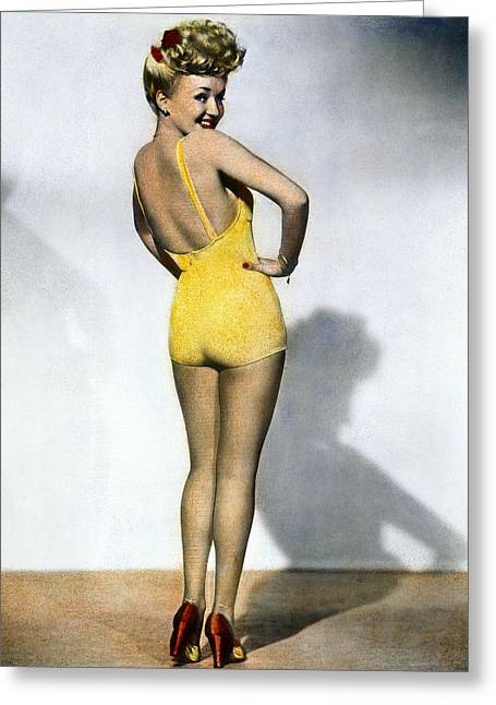 Grable Greeting Cards - Betty Grable Greeting Card by Granger