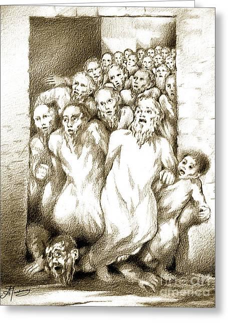 Biblical Illustration Greeting Card by Alex Tavshunsky